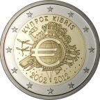 2 euro commémorative Chypre 2012 - 10 ans de l'euro fiduciaire