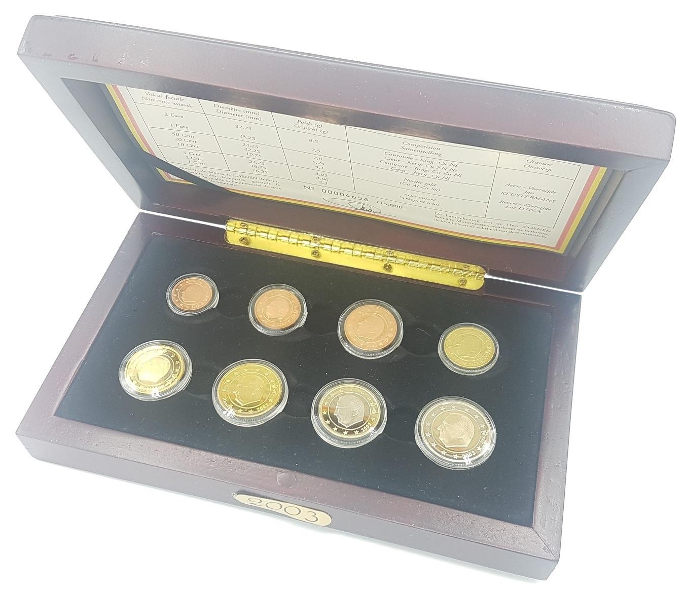 (EUR02.CofBE.2003.Cof-BE.00004656) Proof coin set Belgium 2003 (inside) (zoom)