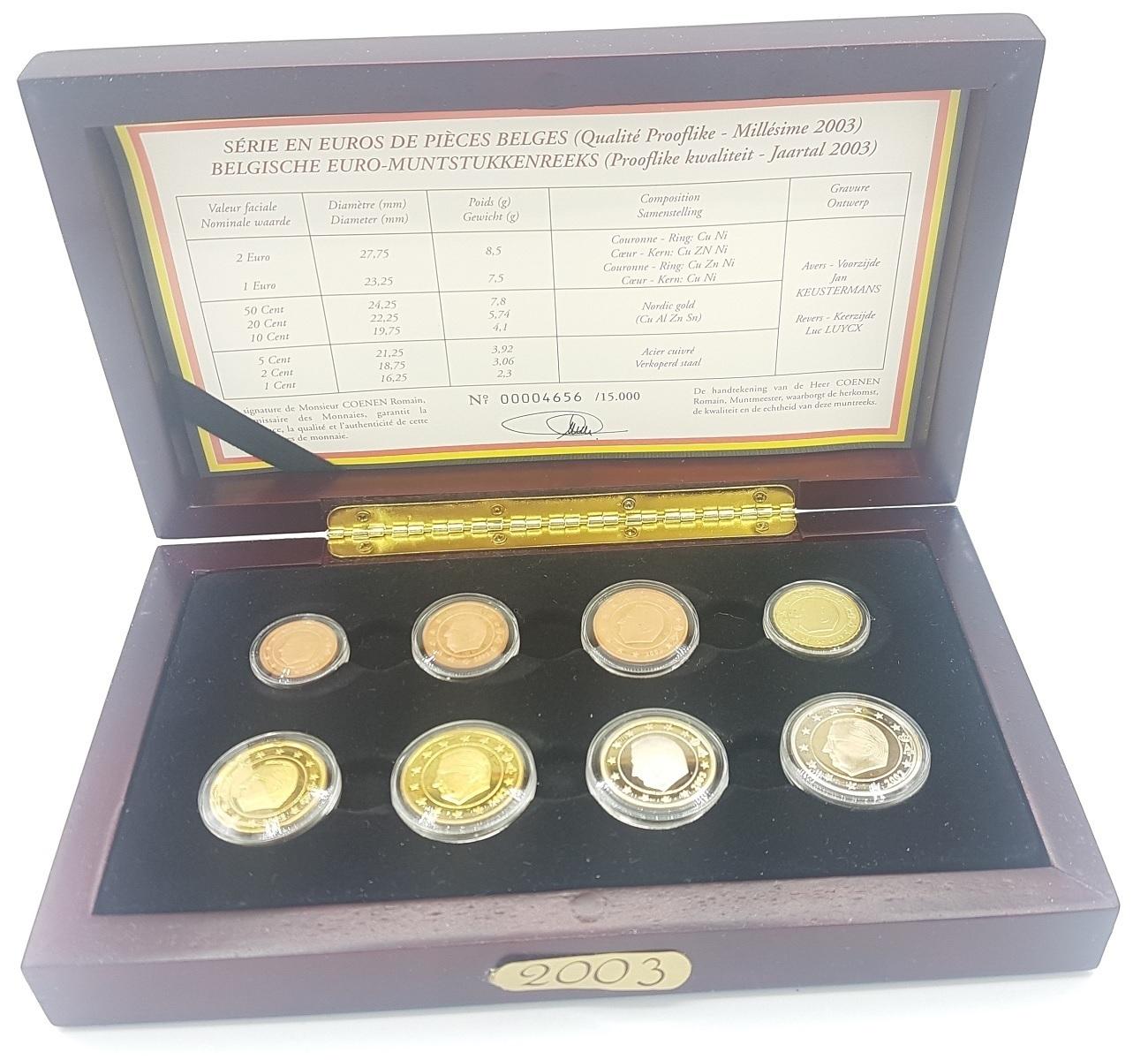 (EUR02.CofBE.2003.Cof-BE.00004656) Proof coin set Belgium 2003 (zoom)