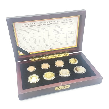 (EUR02.CofBE.2005.Cof-BE.000438) Coffret BE Belgique 2005