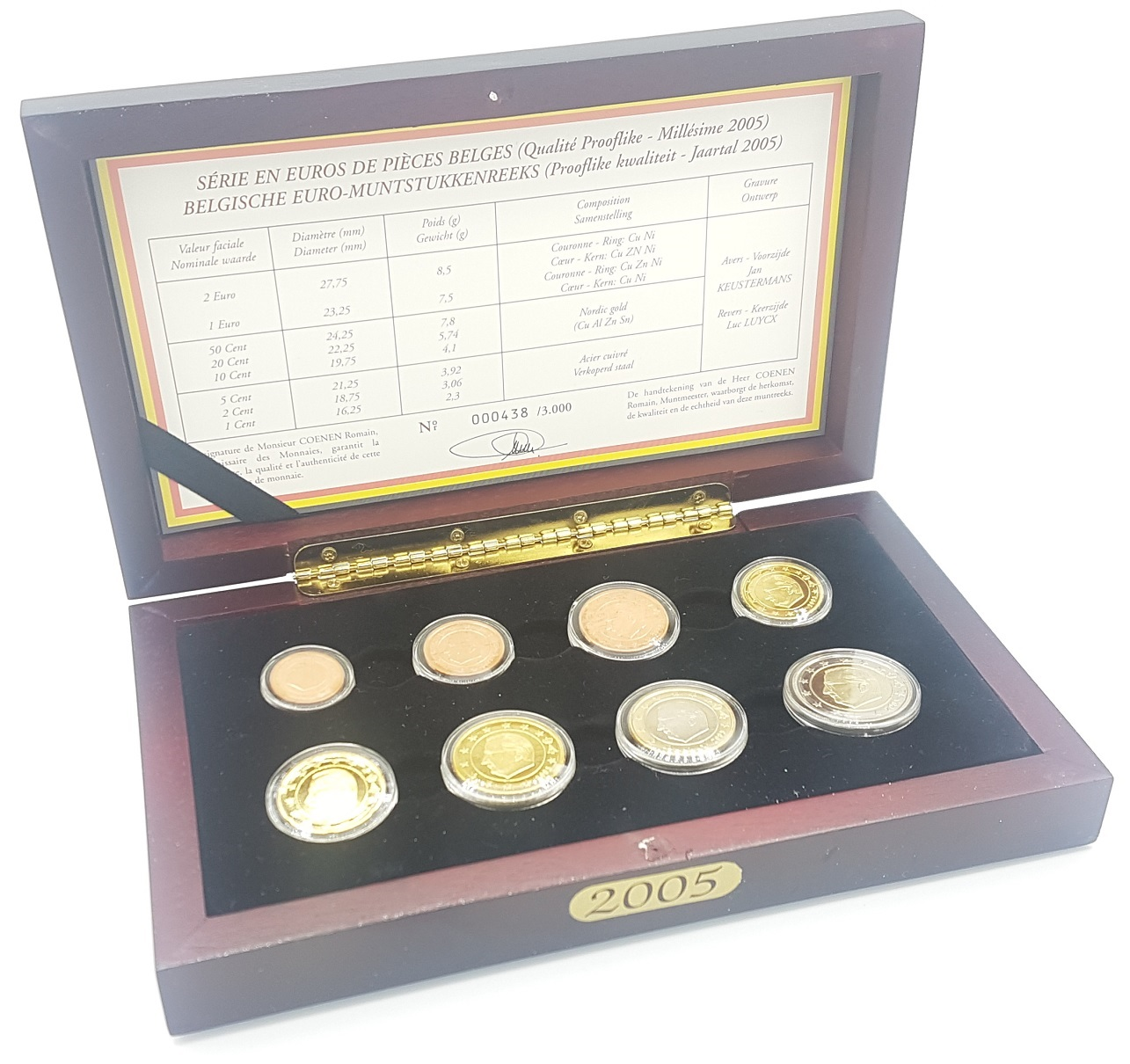 (EUR02.CofBE.2005.Cof-BE.000438) Proof coin set Belgium 2005 (zoom)