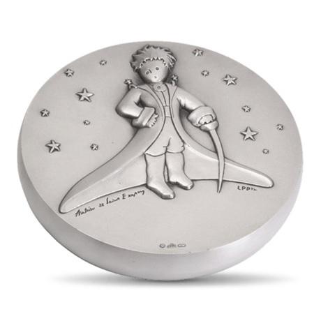 (FMED.Méd.MdP.100112436600A0) Médaille bronze argenté - Le Petit Prince dans les étoiles Avers
