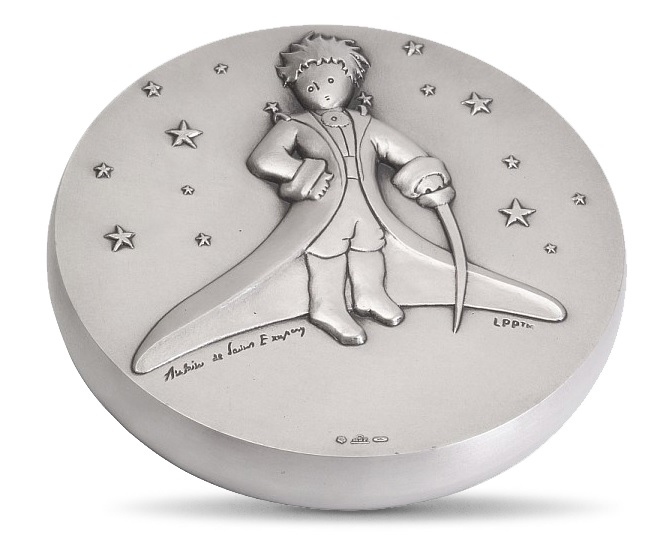 (FMED.Méd.MdP.100112436600A0) Silver plated bronze medal - The Little Prince in the stars Obverse (zoom)