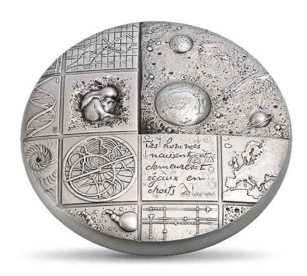 (FMED.Méd.MdP.Ag.sur.CuSn.100112508100A0) Cosmos, by Renée Mayot Obverse (zoom)