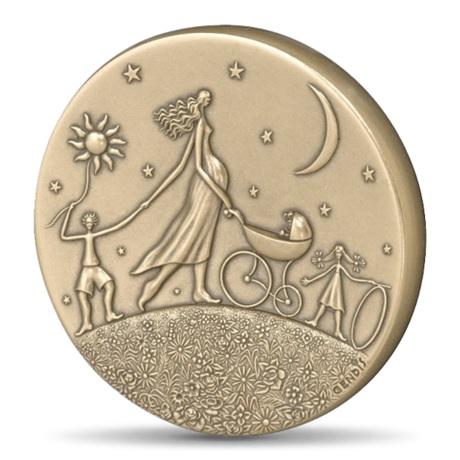 (FMED.Méd.MdP.CuSn.100112000100P0) Médaille bronze - Ronde de la vie Avers