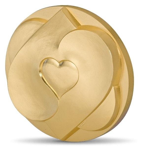 (FMED.Méd.MdP.CuSn.100112210300B0) Bronze clipboard medal - Heart to heart Obverse (zoom)