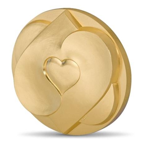 (FMED.Méd.MdP.CuSn.100112210300B0) Médaille presse-papiers bronze - Coeur à coeur Avers