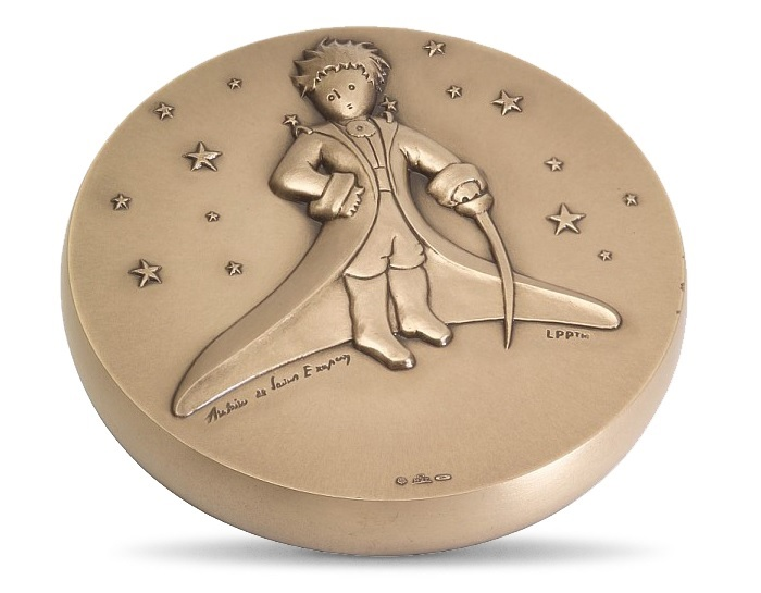 (FMED.Méd.MdP.CuSn.100112436500P0) Bronze medal - The Little Prince in the stars Obverse (zoom)
