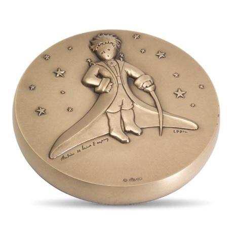 (FMED.Méd.MdP.CuSn.100112436500P0) Médaille bronze - Le Petit Prince dans les étoiles Avers