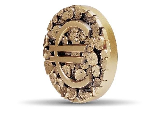 (FMED.Méd.MdP.CuZn.100112138900P0) Florentine bronze clipboardmedal - Pêle-mêle euro (edge) (zoom)