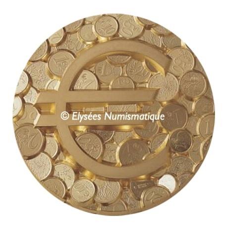 (FMED.Méd.MdP.CuZn.100112138900P0) Médaille presse-papiersbronze florentin-Pêle-mêle euro Avers