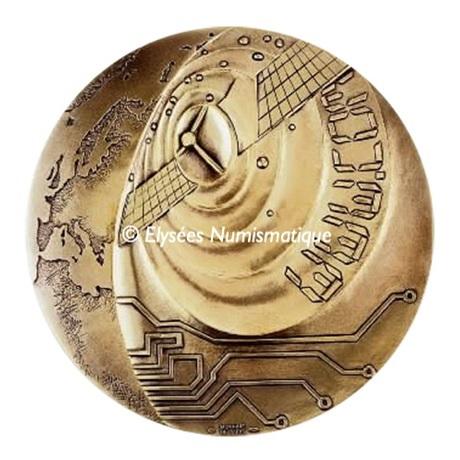 (FMED.Méd.MdP.CuZn.100112200400P0) Médaille bronze florentin - Ere de la communication Avers