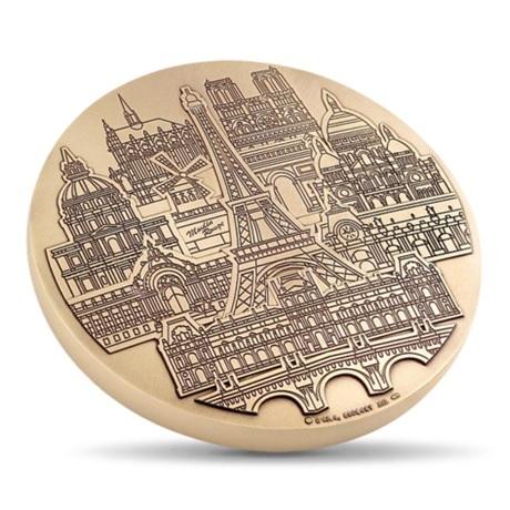 (FMED.Méd.MdP.CuZn.100112486000P0) Médaille presse-papiers bronze florentin - Monuments parisiens Avers