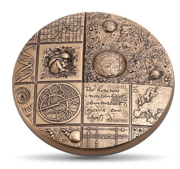 (FMED.Méd.MdP.CuZn.100112508100P0) Florentine bronze clipboard medal - Cosmos Obverse (zoom)