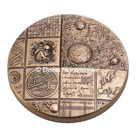 (FMED.Méd.MdP.CuZn.100112508100P0) Médaille presse-papiersbronze florentin- Cosmos Avers