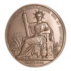 Médaille bronze - Sceau de la 2ème République (Grand module) Avers