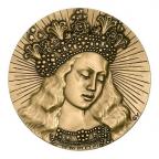 Médaille bronze - Vierge de Van Eyck Avers