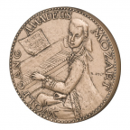 Médaille bronze - Wolfgang Amadeus Mozart Avers