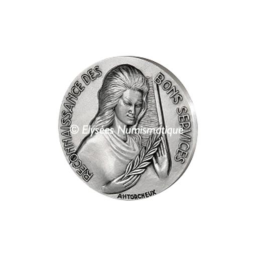 Médaille bronze argenté - Reconnaissance des bons services - avers