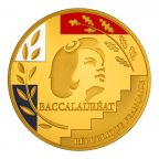 Médaille bronze doré - Médaille du baccalauréat Avers