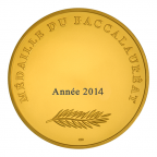 Médaille bronze doré - Médaille du baccalauréat Revers