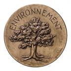Médaille bronze florentin - Environnement Avers