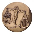 Médaille bronze florentin - Environnement Revers