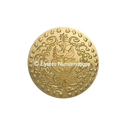 Médaille bronze florentin - Médaille du mariage (Module moyen) - avers