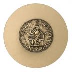 Médaille bronze florentin - Sceau de l'Université de Paris Revers