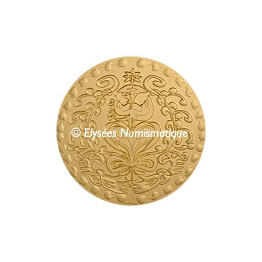 Médaille bronze florentin mat - Médaille du mariage (Grand module) - avers