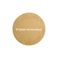 Médaille bronze florentin mat - Médaille du mariage (Grand module) - revers