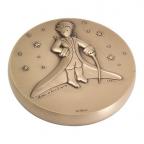 Médaille presse-papiers bronze - Le Petit Prince dans les étoiles Avers