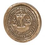 Médaille presse-papiers bronze - Sceau de Paris (Petit module) Avers