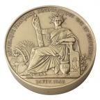 Médaille presse-papiers bronze - Sceau de la 2ème République Avers