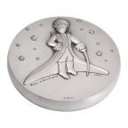 Médaille presse-papiers bronze argenté - Le Petit Prince dans les étoiles Avers