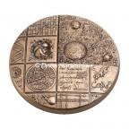 Médaille presse-papiers bronze florentin - Cosmos
