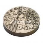 Médaille presse-papiers bronze florentin - Europa