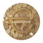 Médaille presse-papiers bronze florentin - Pêle-mêle euro