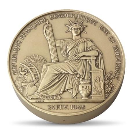 (fMED.Méd.MdP.CuSn.100111213100P0) Médaille bronze - Sceau de la Deuxième République Avers