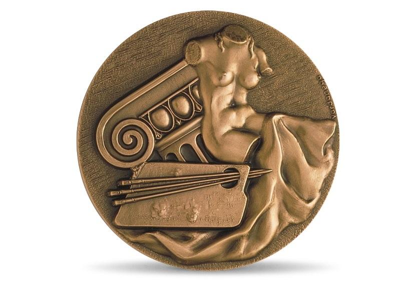 (fMED.Méd.MdP.CuSn.100111387500P0) Bronze medal - Arts, by Gregorio Vardanega Obverse (zoom)