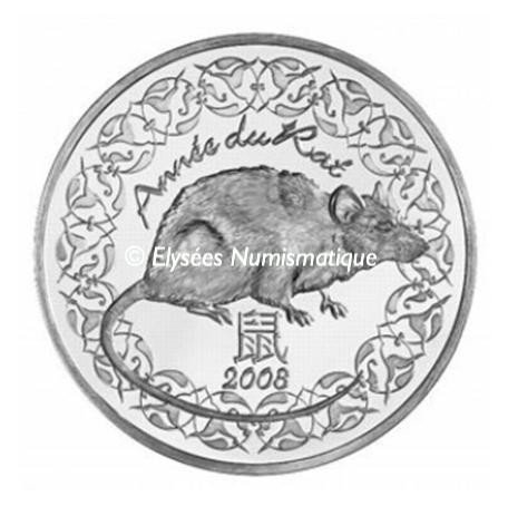 1 4 euro france 2008 argent bu ann e du rat elys es numismatique. Black Bedroom Furniture Sets. Home Design Ideas