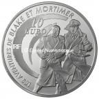 10 euro France 2010 argent BE - Blake et Mortimer Revers