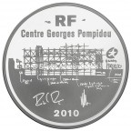 10 euro France 2010 argent BE - Centre Georges Pompidou Avers