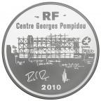 10 euro France 2010 argent BE - Centre Georges Pompidou Avers