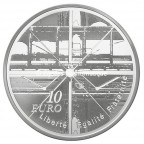 10 euro France 2010 argent BE - Centre Georges Pompidou Revers