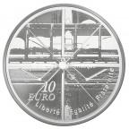 10 euro France 2010 argent BE - Centre Georges Pompidou Revers