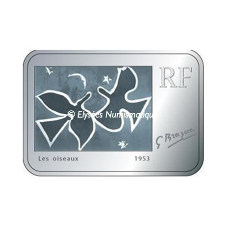 10 euro France 2010 argent BE - Georges Braque Obverse