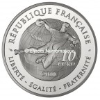 10 euro France 2010 argent BE - Handball Revers