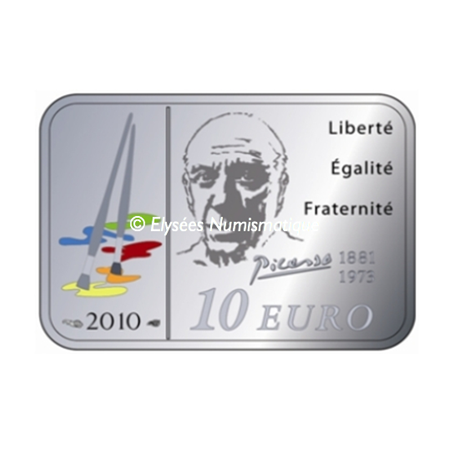 10 euro France 2010 argent BE - Pablo Picasso Reverse