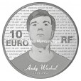 10 euro France 2011 argent BE - Andy Warhol Revers